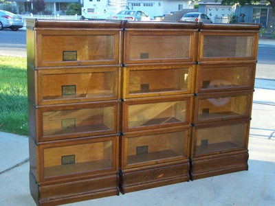 3 4 Wide 25 Inch Antique Lawyer Barrister Bookcase